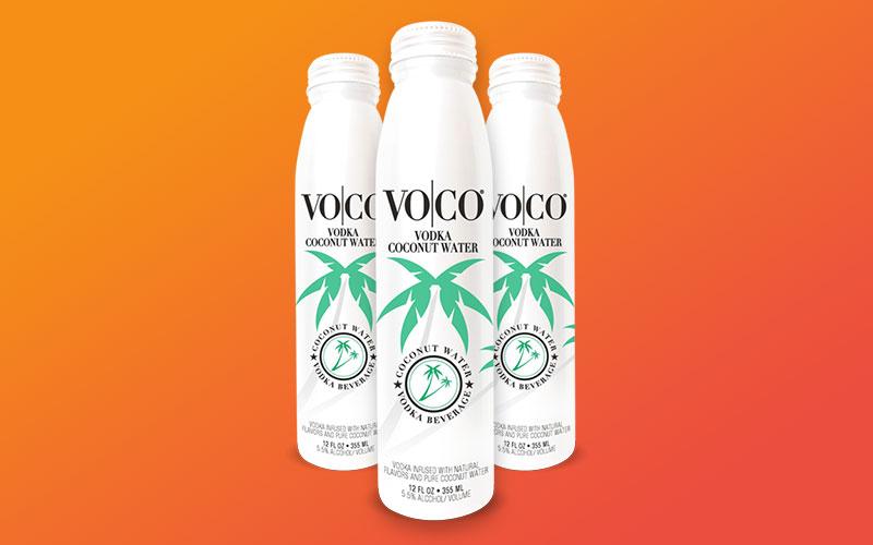 Graphic design mockup of the VoCo bottle design.