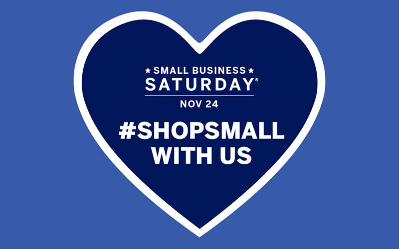 Graphic Design for Small Business Saturday.