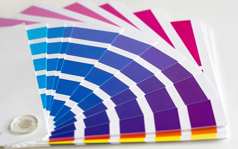 Stock image of color swatches.