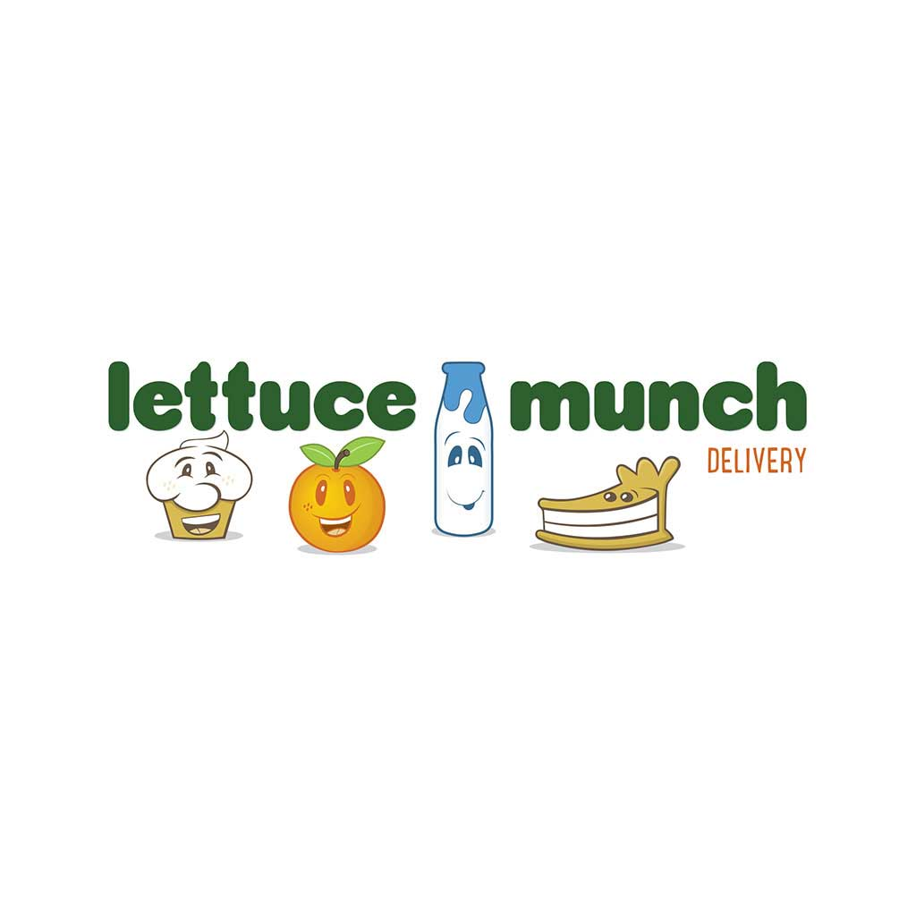 Lettuce Munch Delivery logo design.