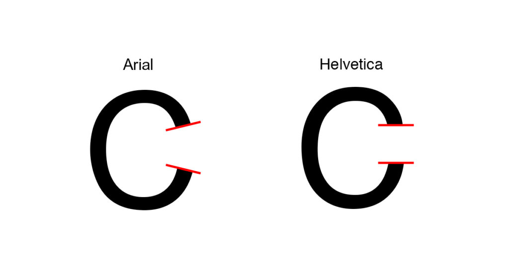 How To Identify The Difference Between Arial And Helvetica